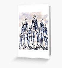 Survivors of the North-Claymore Greeting Card