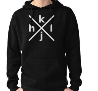 hjkl for Hardcore Vi/Vim Hackers - Black Hoodie