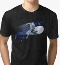 Camiseta de tejido mixto Surfista de plata