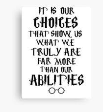 Dumbledore quote Canvas Print