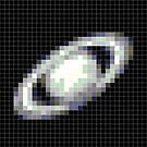 Pixelated Saturn by Paul Gitto