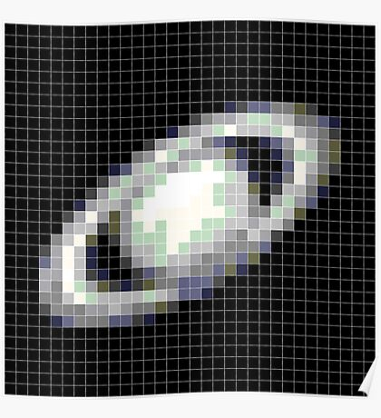 Pixelated Saturn Poster