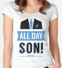 All Day Son Schmidt Tshirt   New Girl T-Shirt Tee Nick Miller Cece Winston Jess TV Quote Meme Gift Him Her douchebag jar Schmidt Happens uk Women's Fitted Scoop T-Shirt