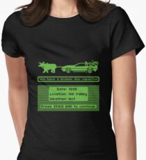 The Delorean Trail Fitted T-Shirt