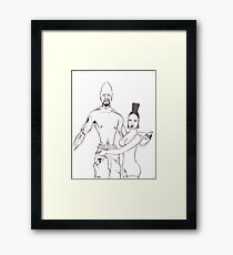 the pimp and the hoochie Framed Print
