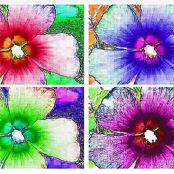 Pop Art Hibiscus by dendelacroix