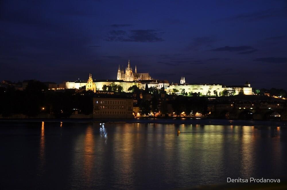 Pražský hrad v noci by Denitsa Prodanova