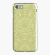Monogram pattern (A) in Lichen iPhone Case/Skin