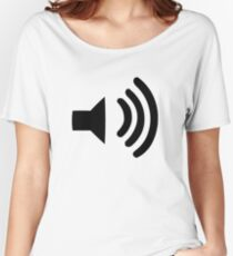Sound Volume Symbol Women's Relaxed Fit T-Shirt