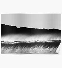 Fluid Glass Wave- B&W Poster