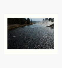 Firehole river at Midway Geyser Basin ~ Yellowstone National Park Art Print
