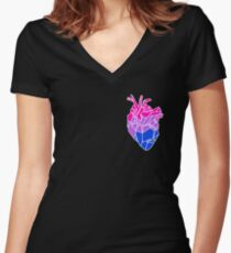 Bisexual Babe Women's Fitted V-Neck T-Shirt