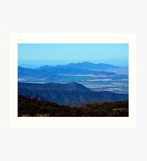 View from Doug Sky Lookout Art Print