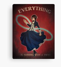 Everything is Nothing with a Twist Canvas Print