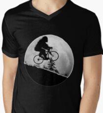 Bigfoot Rides! Men's V-Neck T-Shirt