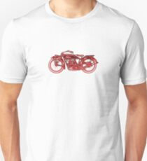 Vintage Indian Scout Motorcycle Print T-Shirt