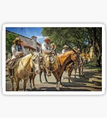Ready for the Cattle Drive, Fort Worth Stockyards, Texas, USA Sticker