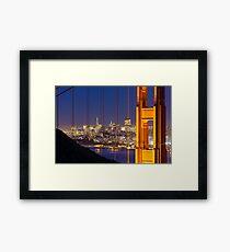 Golden Gate View Framed Print