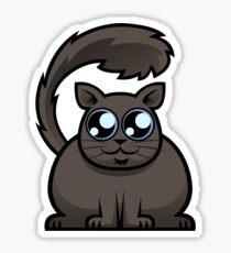 Brown Cat Sticker