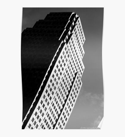 Leaning Building Poster