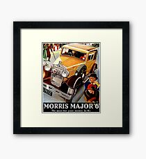 Morris Major 6 British classic car art deco advert Framed Print