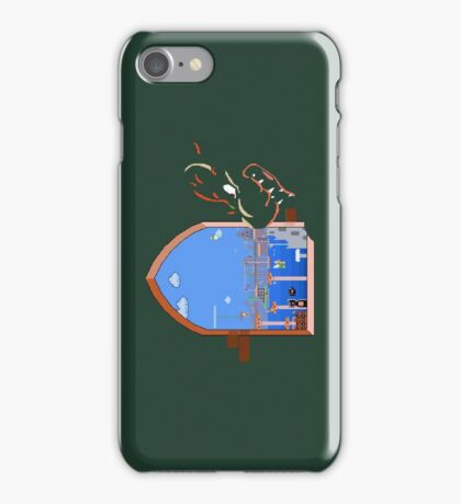Our Hero Approaches (Green Background) iPhone Case/Skin
