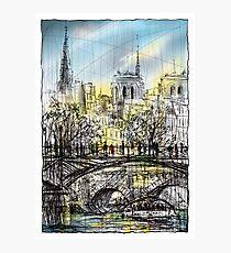 Paris 8 in colour Photographic Print