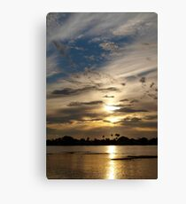 Swirling in the sky Canvas Print