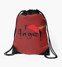 In Love With Angel Drawstring Bag