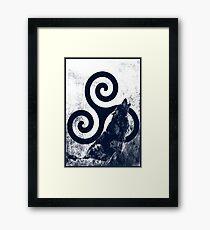 Triskele and Wolf Framed Print