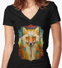 Wise Fox  Fitted V-Neck T-Shirt