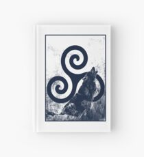 Triskele and Wolf Hardcover Journal