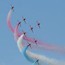 Red Arrows 02 by Peter Barrett