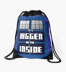 It's Bigger on the Inside Drawstring Bag