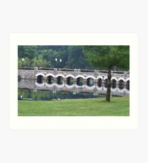 Reflection Bridge Art Print