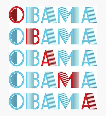 obama : text stacks Photographic Print
