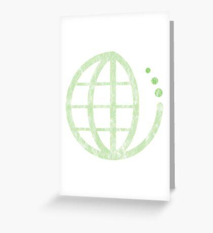 ecoecho : green earth Greeting Card