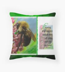 Evening and morning-Psalm 55:17 Throw Pillow