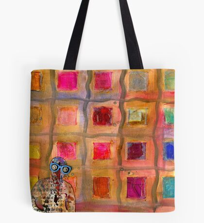 Ms Cool Goes Window Watching in Color Tote Bag