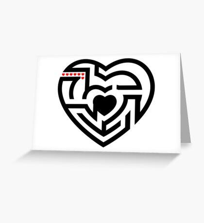 love labrynth Greeting Card