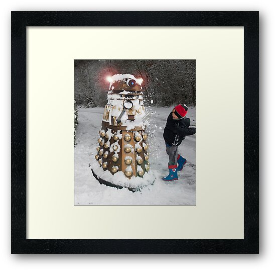 Doctor Who Dalek in Snowball Fight! by ChrisBalcombe