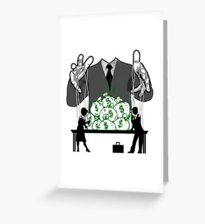 working for the man Greeting Card