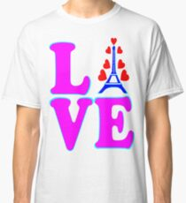 •°♥§Love Paris-Eiffel Tower Fabulous Clothing & Stickers§♥°• Classic T-Shirt