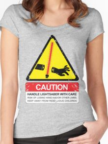 CAUTION: Handle With Care Women's Fitted Scoop T-Shirt