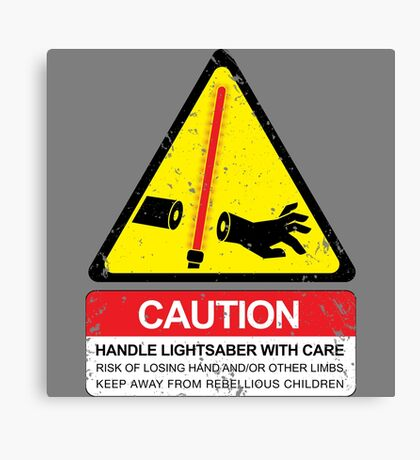 CAUTION: Handle With Care Canvas Print