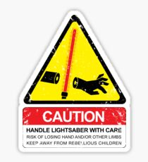 CAUTION: Handle With Care Sticker