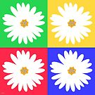multi daisy bright by hennydesigns