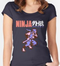 Ninja Gaiden's Ryu with Logo Women's Fitted Scoop T-Shirt
