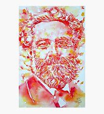 JULES VERNE watercolor portrait Photographic Print