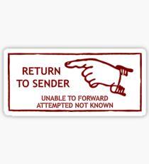Postage Stamp Return To Sender Sticker